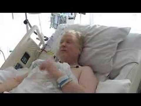 Larry Norman in the hospital greeting, February 2008