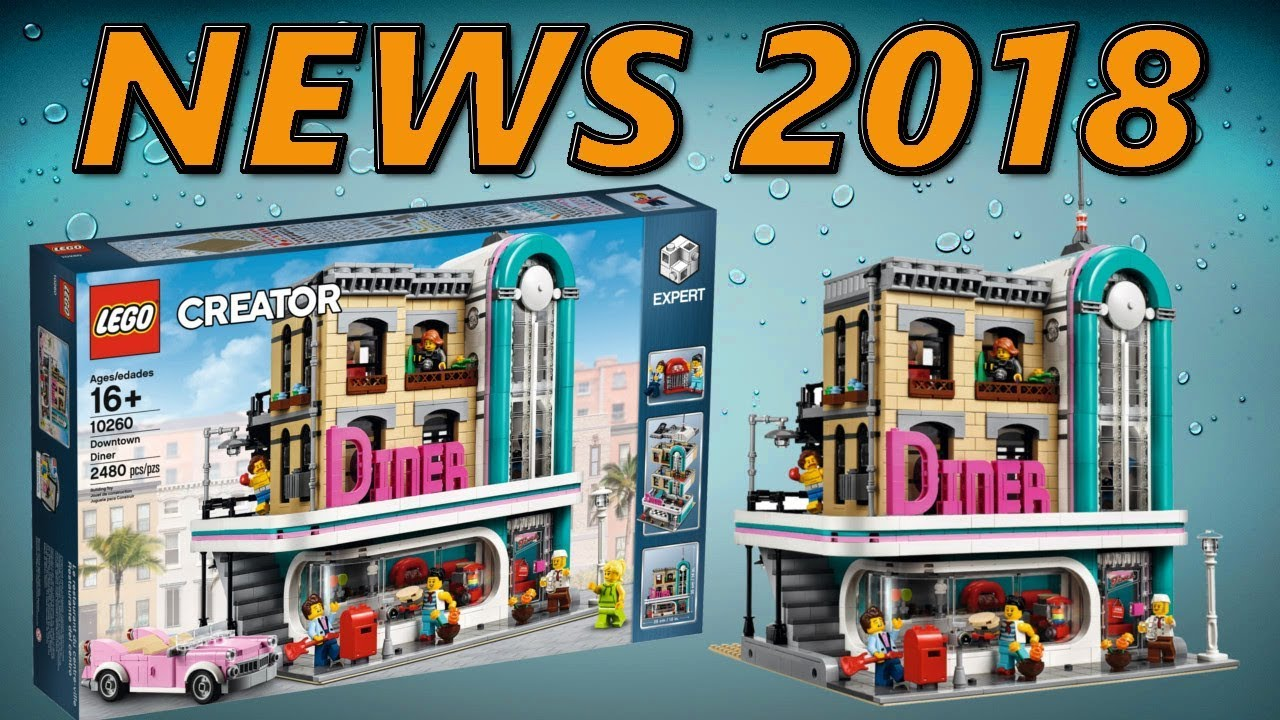 nuovo lego creator expert 10260 downtown diner da gennaio. Black Bedroom Furniture Sets. Home Design Ideas
