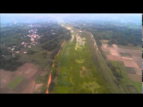 Aerial video of Baidyabati Canal side, West Bengal, India, with Sj4000 cam on board selfmade quad.