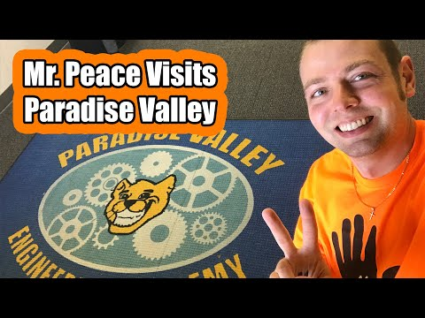 Mr. Peace Visits Paradise Valley Engineering Academy in Morgan Hill, California