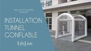 Installation tunnel gonflable