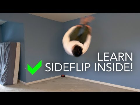 How to Learn Side Flip Inside Your House!