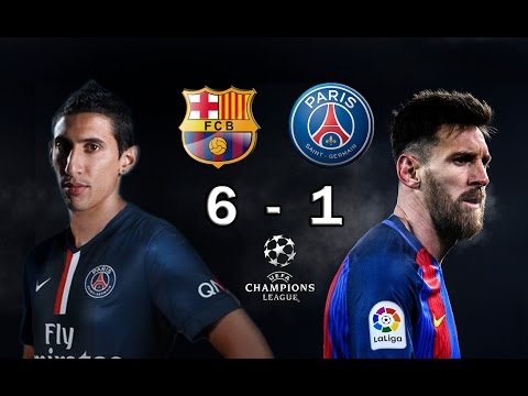 BARCELONA 6 vs PSG 1 - Champions League Octavos Final 2017 - VATICINIO 08/03/2017