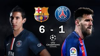 vuclip BARCELONA 6 vs PSG 1 - Champions League Octavos Final 2017 - VATICINIO 08/03/2017