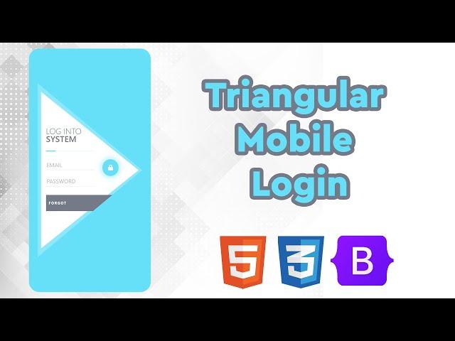 Triangular Mobile Login   UI Design to HTML, CSS Using Bootstrap 5