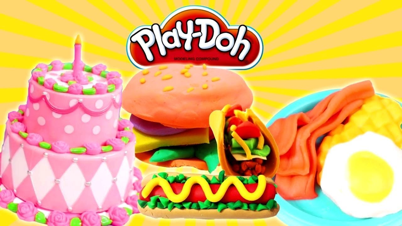 cooking play doh food videos for kids youtube. Black Bedroom Furniture Sets. Home Design Ideas