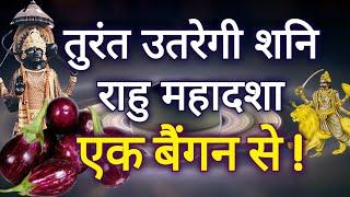 सिर्फ एक बैंगन तुरंत उतारेगी आपके जीवन से शनि और राहु केतु की महादशा- YouTube