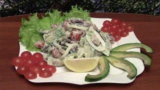 Как сделать ПРАЗДНИЧНЫЙ салат из морепродуктов. Простой недорогой рецепт