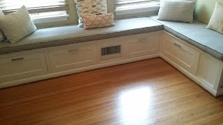 Built in dining banquette how to. I show how to make and install a dining room banquette using the Kreg Jig.