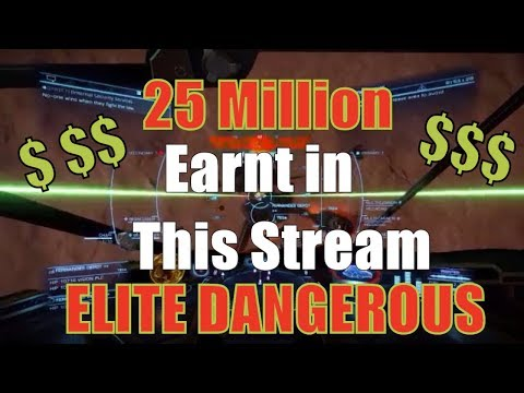 Elite: Dangerous Imperial Rank and Cash  RANK UP ! 25 Million Credits earned in this stream !