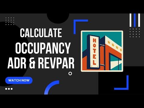 Calculating Revenue per Available Room (RevPAR), Occupancy