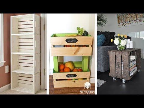 25 Wood Crate Storage Ideas