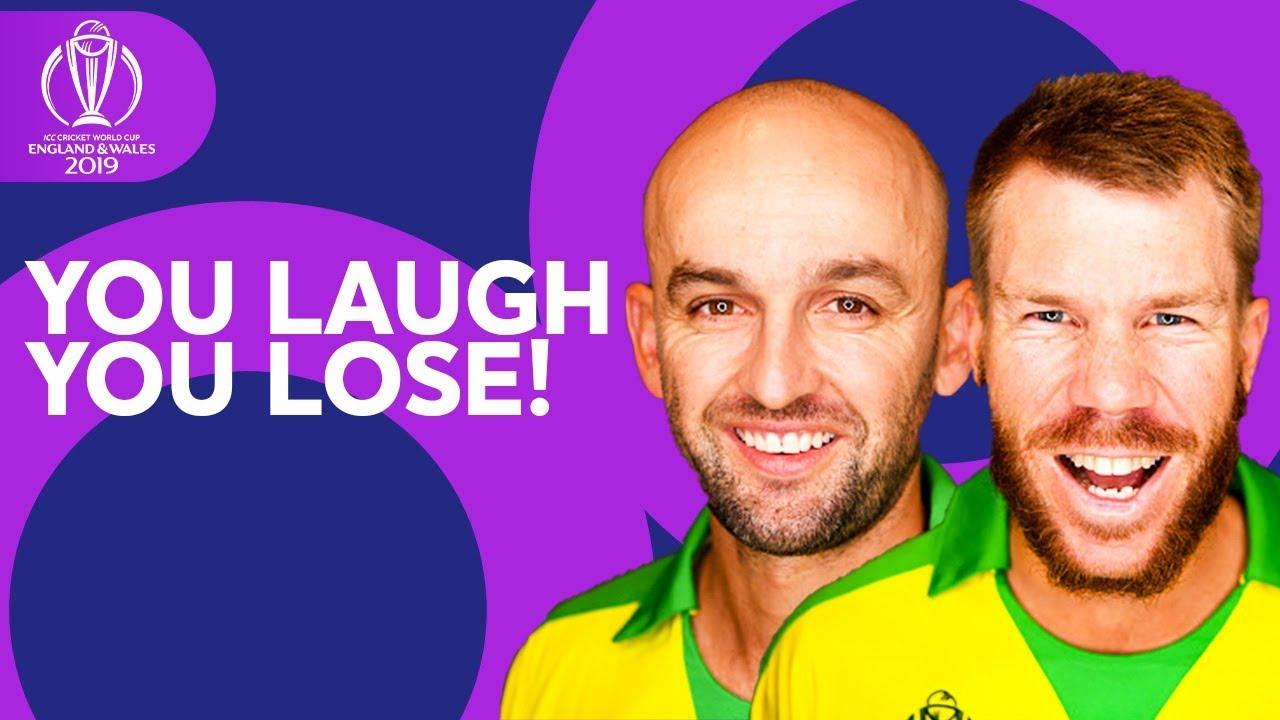 YOU LAUGH, YOU LOSE | Nathan Lyon vs David Warner | ICC Cricket World Cup 2019