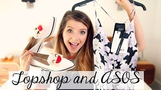 Topshop & ASOS Clothing Haul | Zoella(Topshop & ASOS Clothing Haul Links to items are below Second channel: http://bit.ly/1e9j21C Previous Video: http://bit.ly/1Nvse0F Products Mentioned: ..., 2015-07-19T17:00:50.000Z)