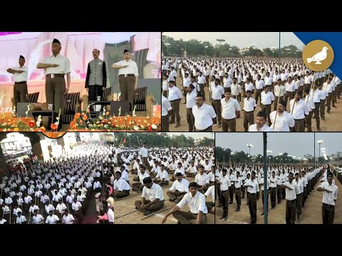 Hyderabad: RSS mega Rally at Saroornagar, Mohan bhagwat attend
