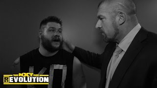 kevin owens meets with wwe medical staff and triple h nxt takeover r evolution dec 11 2014