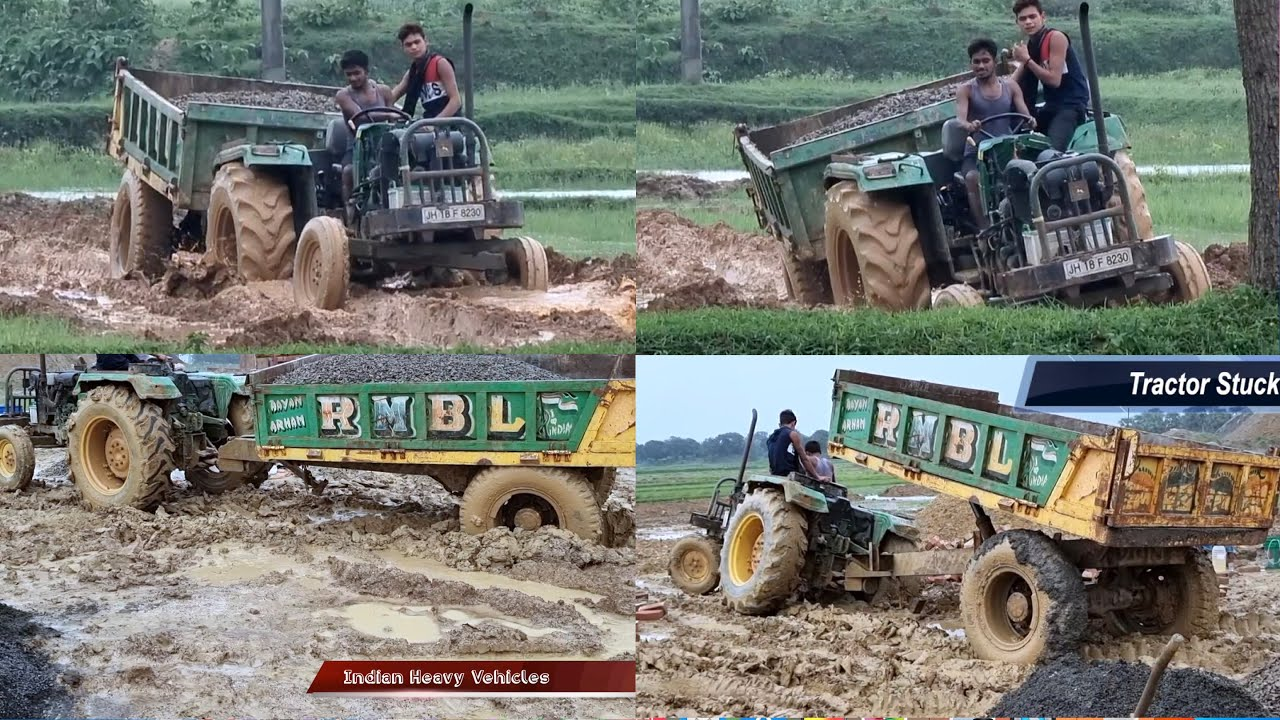 John Deere 5042D Tractor Driving On Farm With Loaded Trolley | Tractor Can Reach The Workplace?