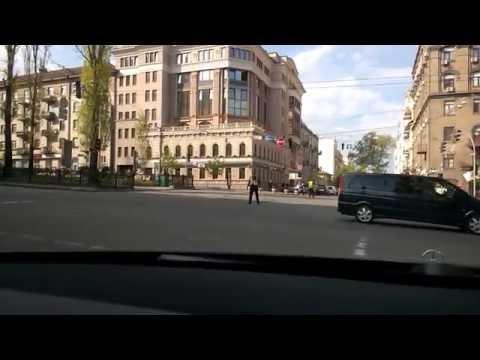 The motorcade of the US VP Mr. Biden, Kiev City downtown, 22 April 2014