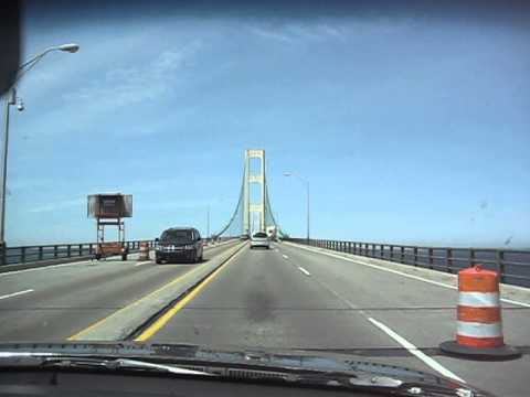 Crossing the Mackinac Bridge - Five Miles from Lower Michigan to the UP