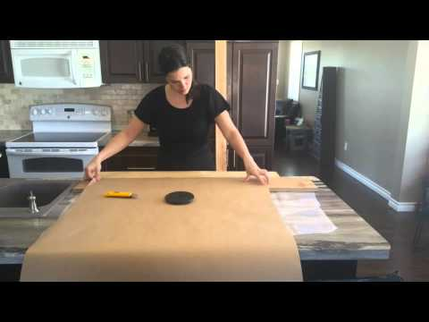 Paper Bag Flooring - How to cut paper planks to look like wood planks - paperbagflooring.com