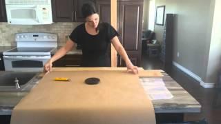 Paper Bag Flooring - How to cut paper planks to look like wood planks - paperbagflooring.com