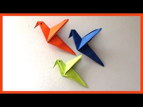 Diy Easy Paper Birds Origami Simple Paper Crafts For Kids Beginners Youtube