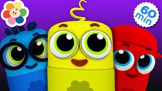 Five Little Crayons Jumping on The Bed   1 Hour Compilation of Nursery Rhymes Songs for Children