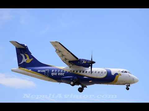 Take Off Janakpur Airport II ATR 42-320 II BUDDHA AIR