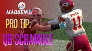 Madden 16 - QB Scramble Pro Tip!