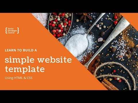 Learn To Build A Simple Website Template With HTML & CSS