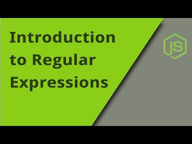 Intro to Regular Expressions