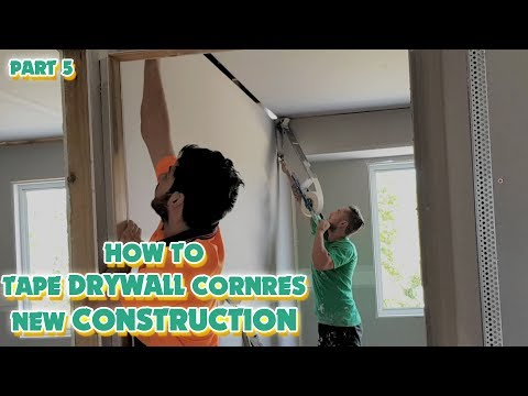 DIY How to Drywall Corner Tape on New Construction
