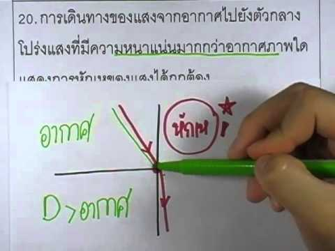 ข้อสอบO-NET ป.6 ปี2552 : วิทย์ ข้อ20