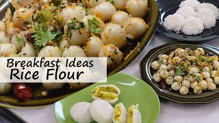 Breakfast Ideas 1 - With Rice Flour Four Types -  Breakfast Recipes For Everyday Cooking By Vahchef
