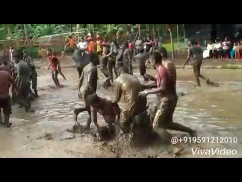 Mud wrestling...