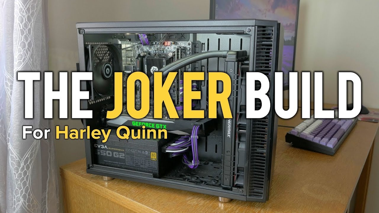 a joker pc build for harley quinn 39 s birthday youtube. Black Bedroom Furniture Sets. Home Design Ideas