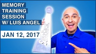🔴  Memory Training Session (Live) w/ Luis Angel - Jan 12, 2017 | Memorize Images, Numbers