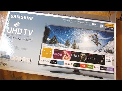 Samsung 4K MU6290 | Comprehensive Unboxing And Setup