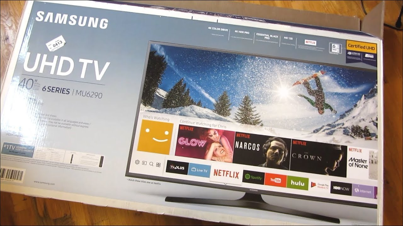 Samsung 4k Mu6290 Comprehensive Unboxing And Setup Youtube