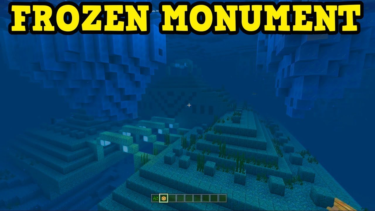NEW: Minecraft FROZEN OCEAN MONUMENT (Aquatic Update Seed)