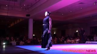 Caitlin Dechelle Extreme Sword Demonstration at Irish Open 2014