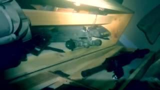 Wooden gun safe bench seat