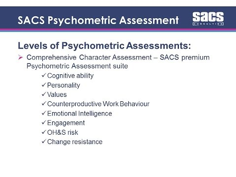 An introduction to psychometric testing