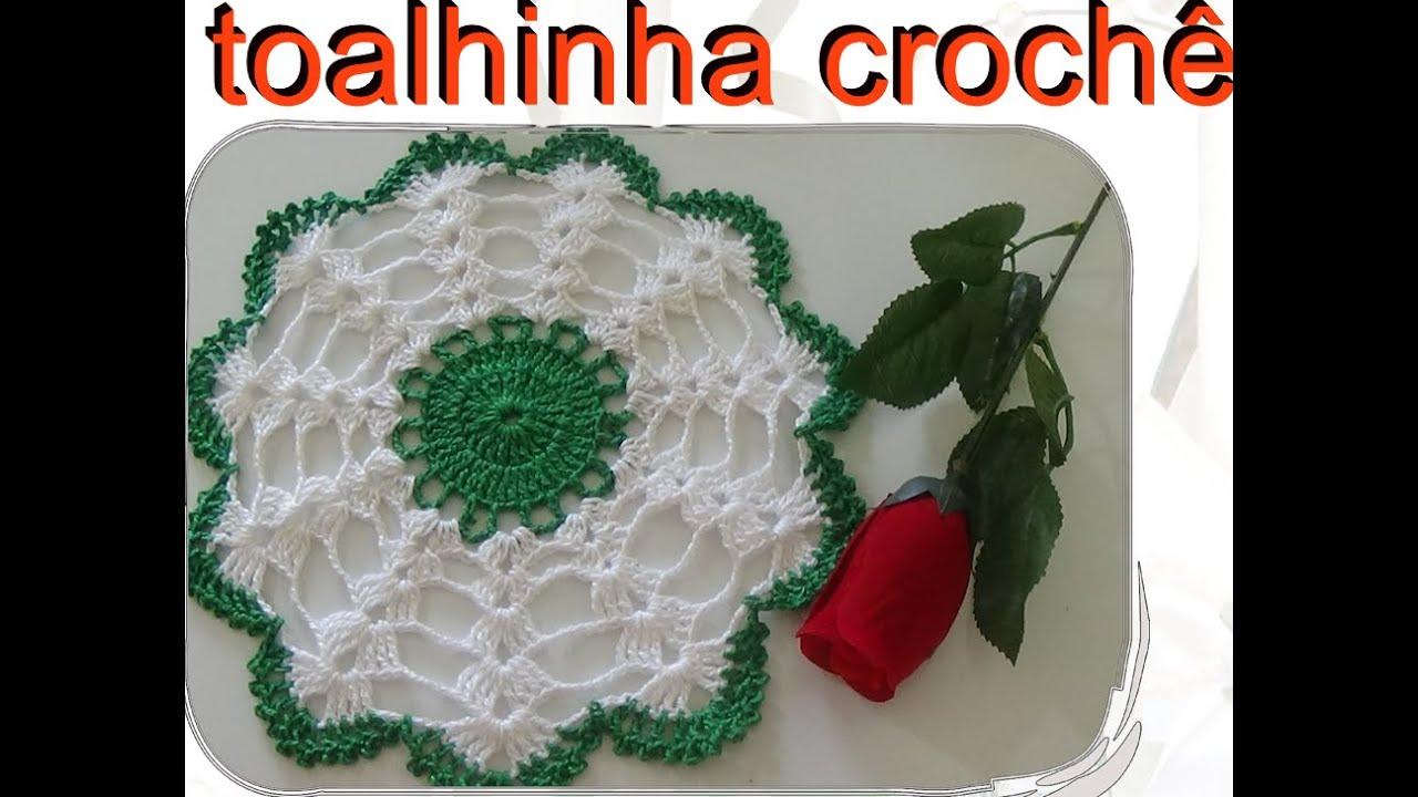 Aparador Rustico De Madeira Para Banheiro ~ toalhinha em croch u00ea passo a passo YouTube
