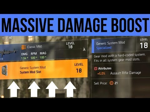 The Division 2 players are farming for low-level mods that