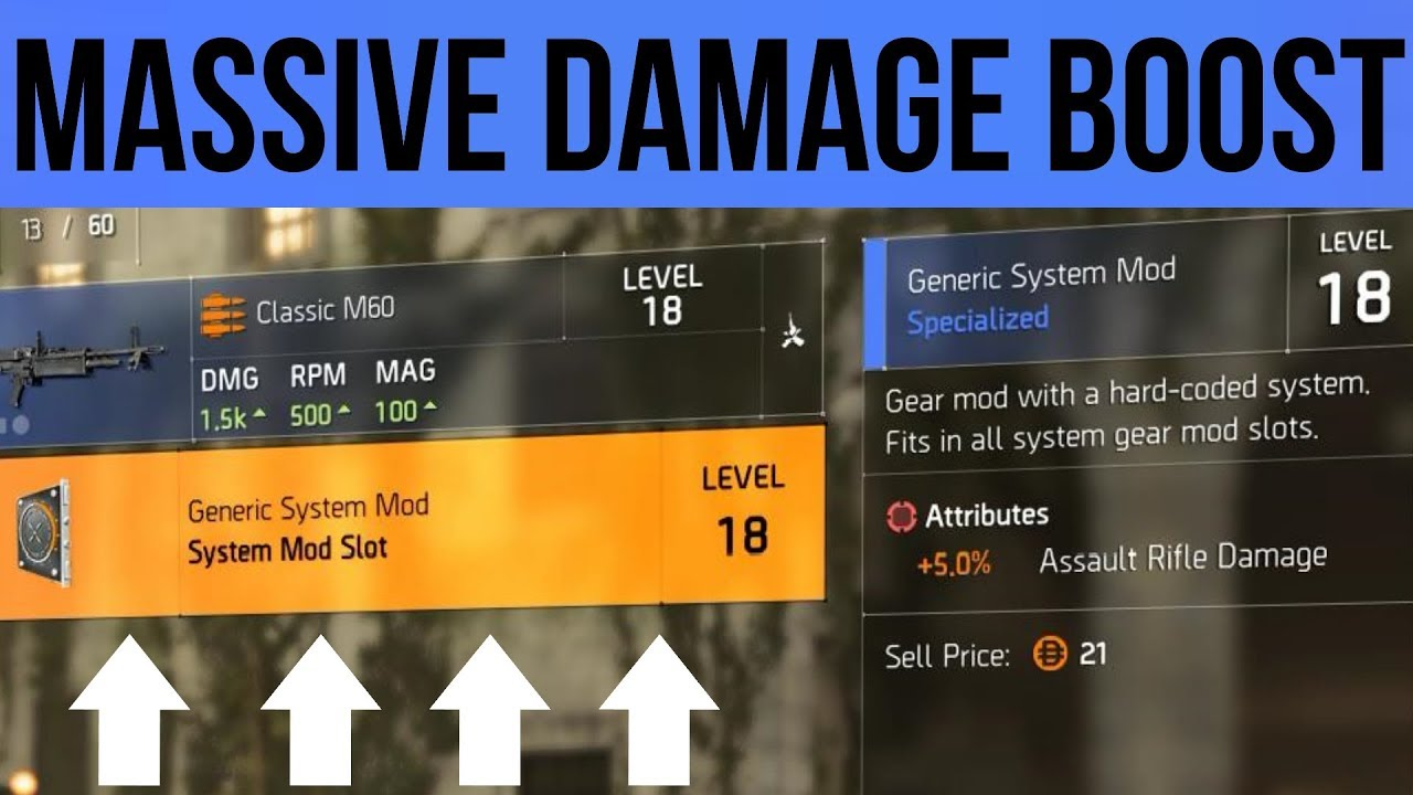 The Division 2 How to get 40% More Damage with Generic Mods Farming