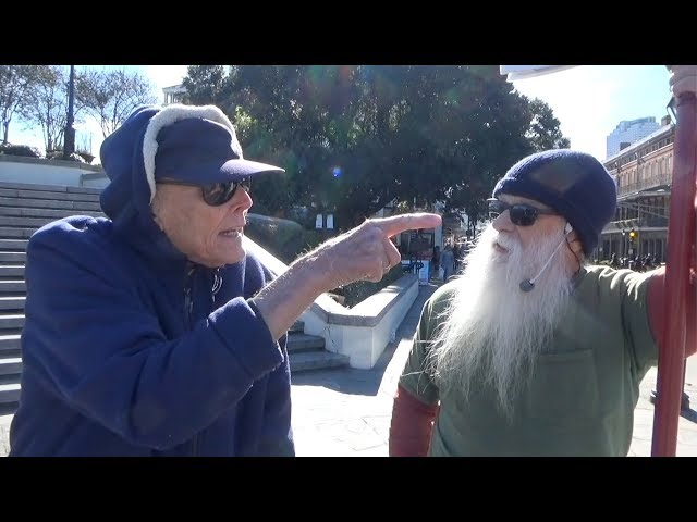 Crusty old Catholic rebukes Street preacher, defends priests!
