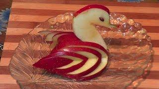 Лебедь из яблока рецепт (угощение, десерт)