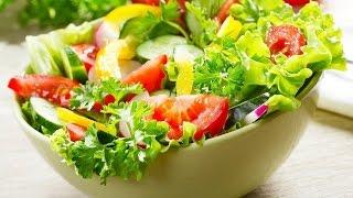 САЛАТ С ПОМИДОРОМ И ОГУРЦОМ! Рецепт простого овощного салата из помидор и огурцов.