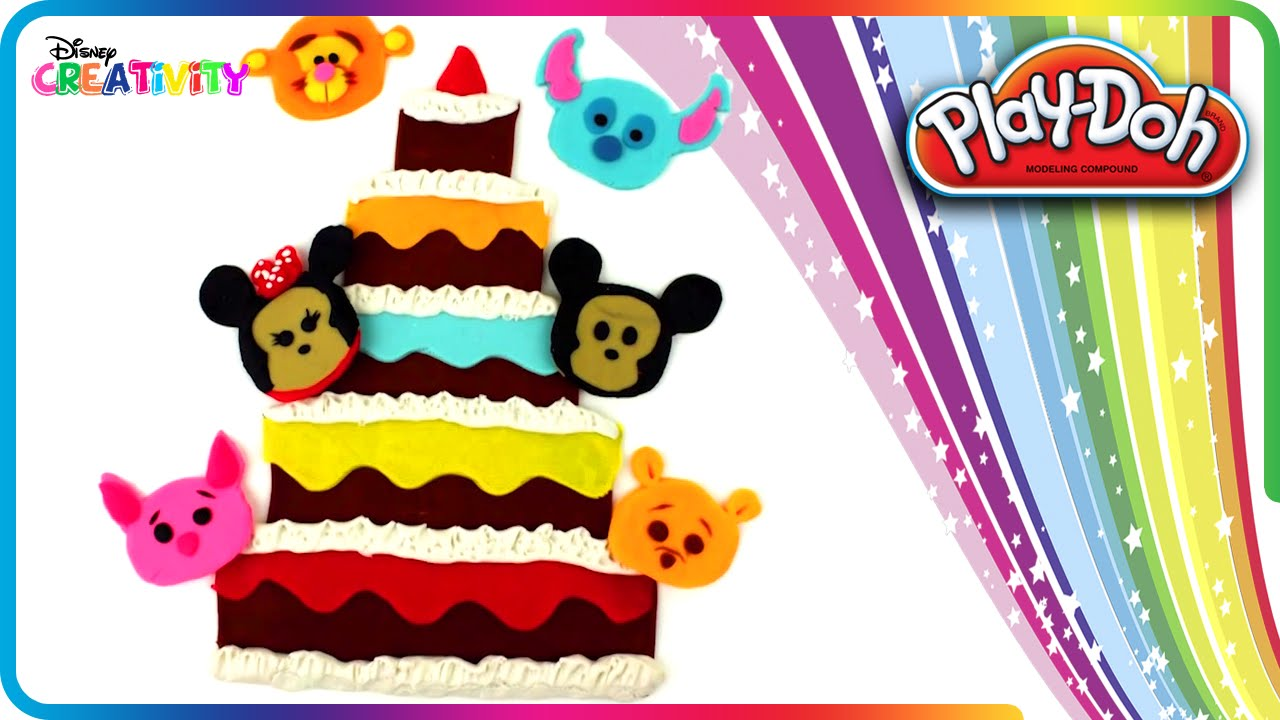 Disney Tsum Tsum Birthday Cake Play Doh Disney Creativity YouTube
